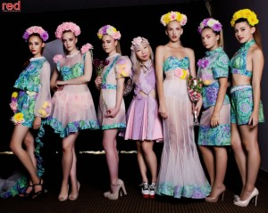 Zoe Brown (centre) and Models at the Avant Garden Fashion Festival.