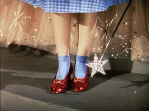 Judy Garland as Dorothy from The Wizard of Oz, TM & © Turner Entertainment Co. (s13) Costume designed by Adrian.