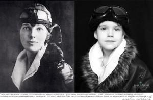 Emma as Amelia Earhart