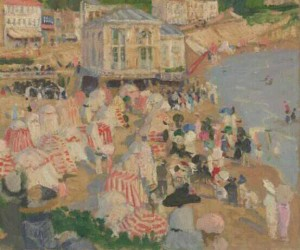 Ethel Carrick 'On the beach' (c. 1911)  oil on canvas 37.8 x 45.6 cm National Gallery of Victoria, Melbourne Herbert and Ivy Brookes Bequest, 1973