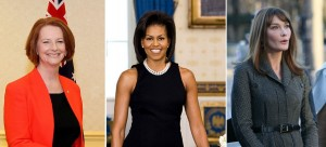 Left to right: Julia Gillard, Michelle Obama, Carla Bruni-Sarkozy