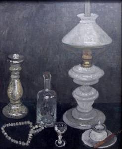 'Stillleben mit Weiber Lampe.' 1906. Paula Modersohn-Becker