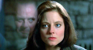 Jodie Foster as Clarice Starling in The Silence of the Lambs.