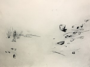 Clare Jackson, 'Vessels 1 and 2', drypoint on Hahnemuhle paper