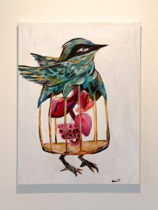 Bird Cage, Acrylic on Canvas. Image: Caiti Stevens