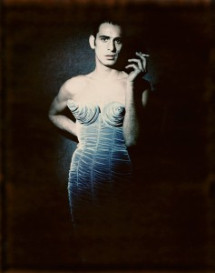Paolo Roversi Tanel Bedrossiantz, in a dress from the  Barbès collection Jean Paul Gaultier, women's prêt-à-porter,  autumn-winter 1984–1985 Private collection © Paolo Roversi, courtesy Art + Commerce