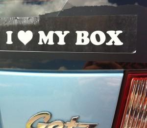 I ? my box
