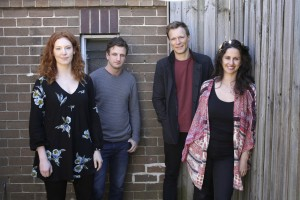 Gabrielle Scawthorn, Aaron Glenane, Tom O'Sullivan, Emma Palmer. Image credit: Helen White