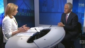 Leigh Sales interviews Malcolm Turnbull on 7.30