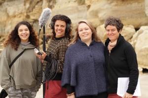 Women of the Island: Takani Clarke, Rebecca Thomson, Madeline Wells and Ninna Millikin in Wynyard, Tasmania. (Image Credit: Lana van Raay)
